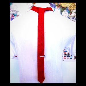 Vintage 80s raw silk tie